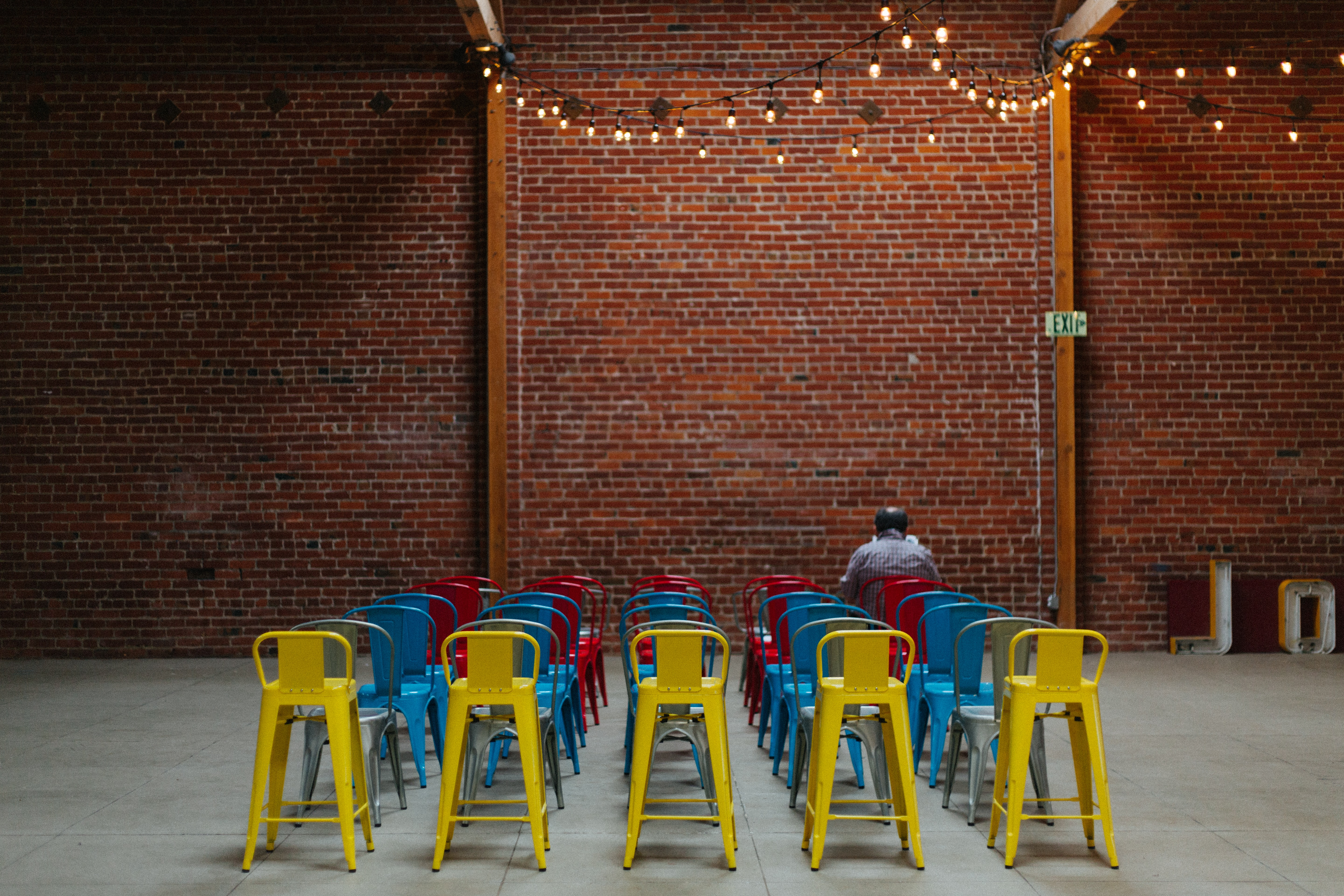 chairs set up in a room for an event